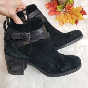 🌿Sam Edelman Black Suede Ankle Booties Size 7.5🌿